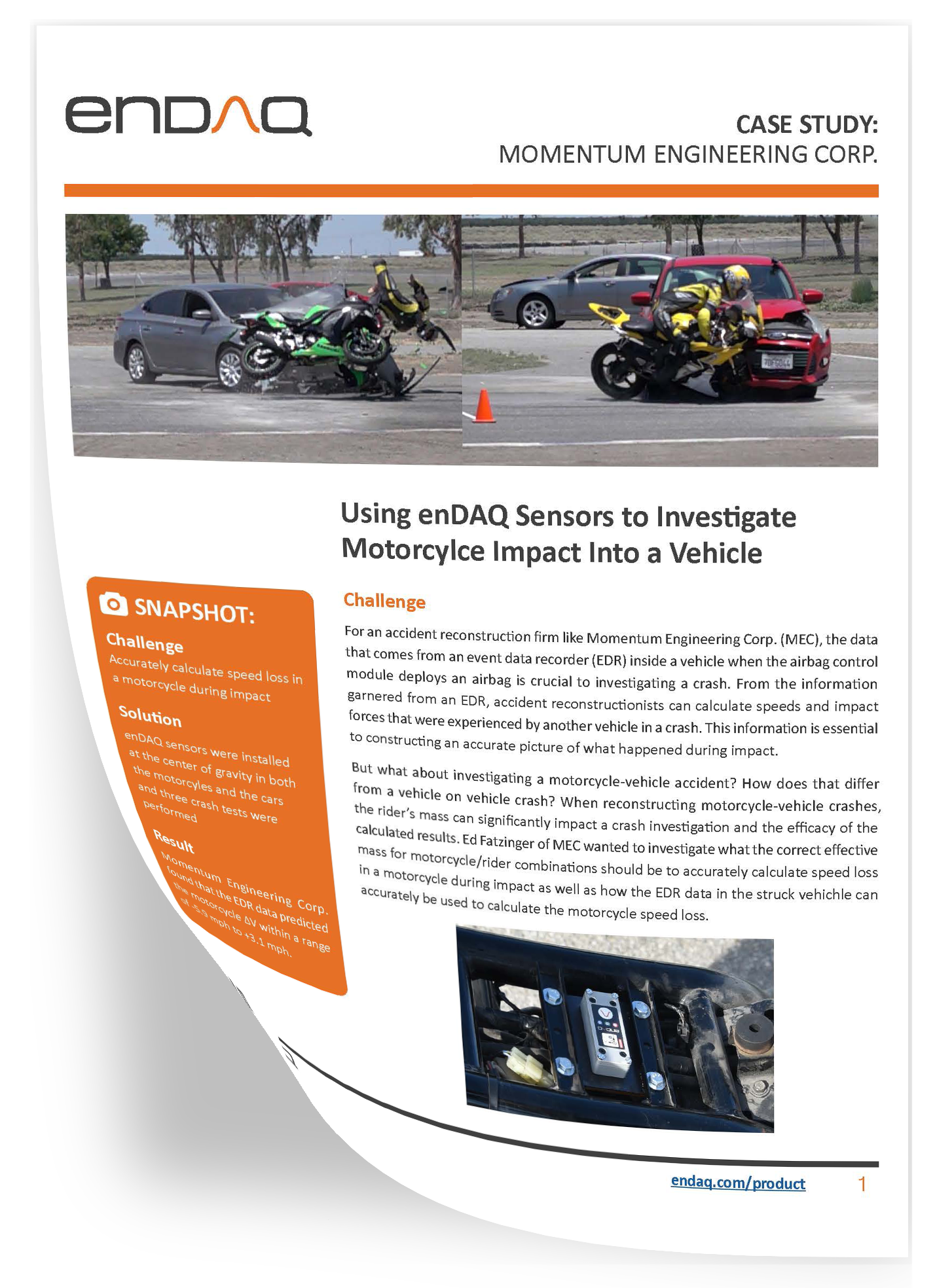 enDAQ Momentum Engineering Corp. Car Crash Case Study