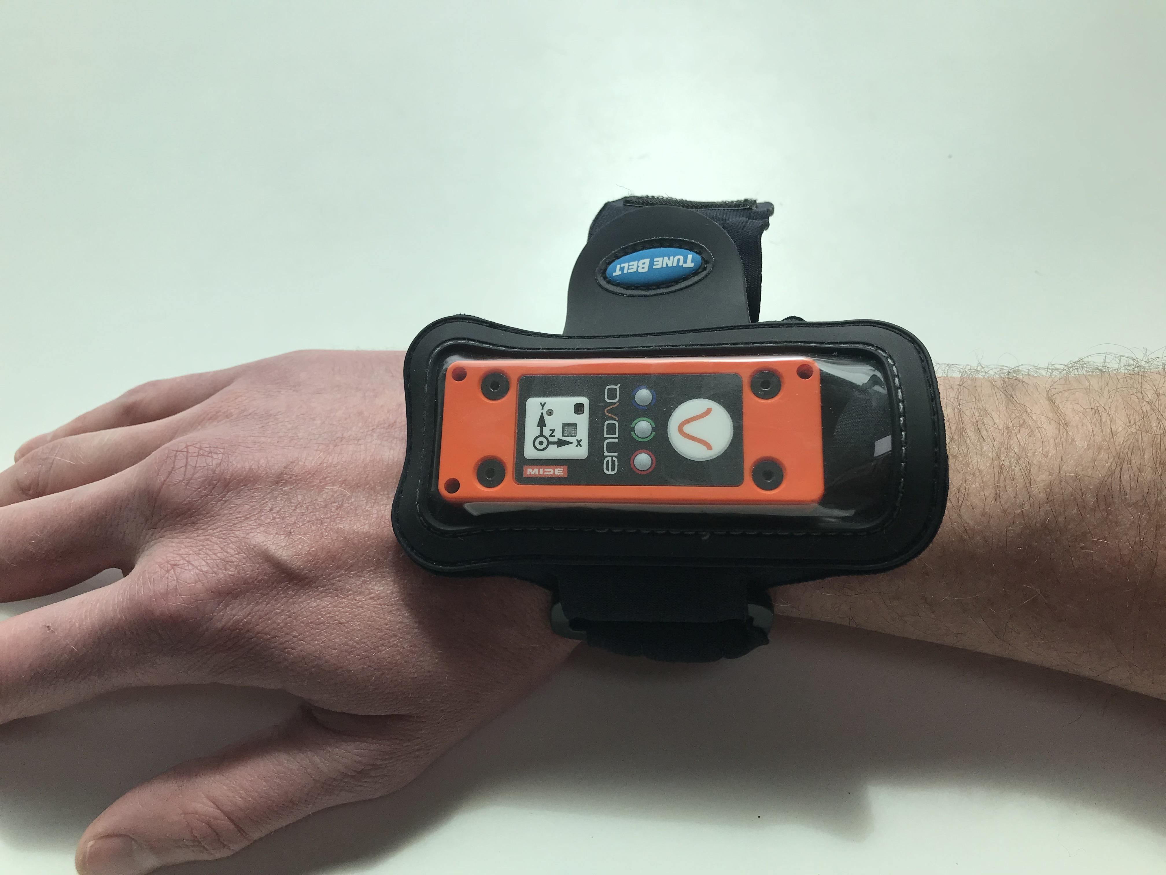 enDAQ Sensor Location on Wrist